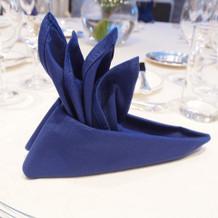 このホテルの形を模したナプキン