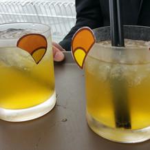 グラスをアレンジ