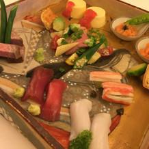 ワンプレート☆お寿司の下は季節の野菜
