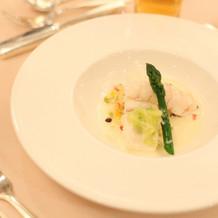 当日の婚礼料理(魚料理)