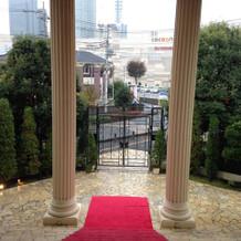 ヴィクトリア館階段からの景色