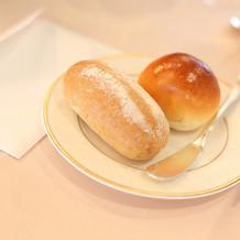 当日の婚礼料理(パン)
