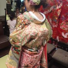 着物の種類が豊富でした。