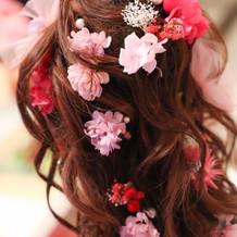 オーダーメイドの髪飾り