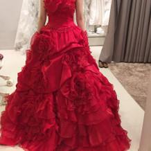 まっかなドレスも華やかだった