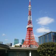 チャペルを出るとすぐに東京タワー