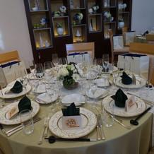 イタリア館でのゲストテーブル