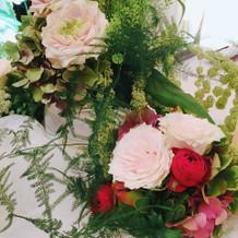 お花も可愛かったです
