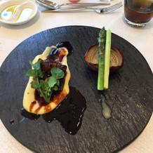 国産牛肉とフォアグラ