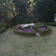 ガーデンにある花時計