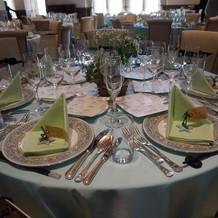 イギリス館でのゲストテーブル