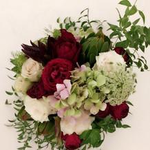 お花、うえから。