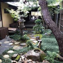 支度部屋から見える庭