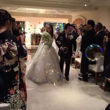 式の時のウエディングドレス