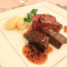 国産牛フィレ肉とバラ肉