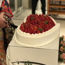 ハートのケーキかわいかったです