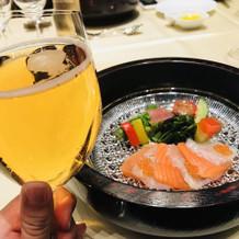 お魚が和食器に出てきて、おしゃれでした。