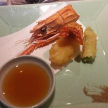 天ぷらも揚げたてでした