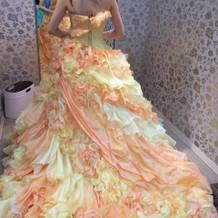 カラードレス  オレンジイエロー