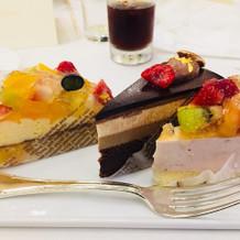 フルーツのケーキが多く選ばれています。