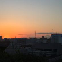 屋上から富士山が見えました