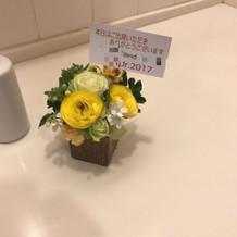 トイレの装花(いらないと思う)