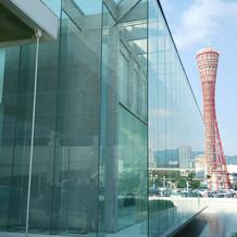 式場からポートタワーが見えます