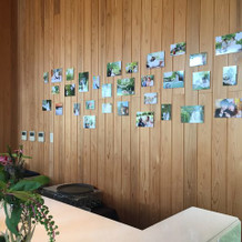 壁自体が木製なので可愛く見えます。
