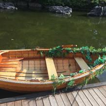 他では見ないボート入場の演出可能。