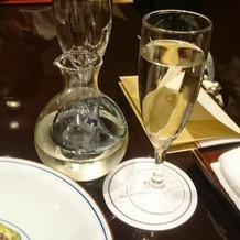 乾杯用のシャンパン