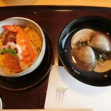 ちらし寿司、ハマグリのお吸い物