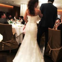マーメイドドレス(背面)