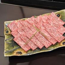 通常提供しているものとは異な高級な肉です