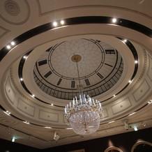 グリニッジホールの天井装飾