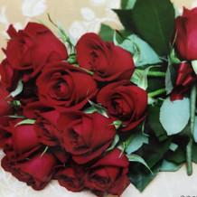 式中に貰ったバラが嬉しかった
