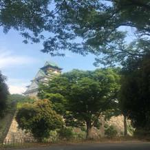 高麗門前から見える大阪城