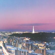 高層ビルならでわの眺望