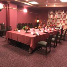 食事会のお部屋