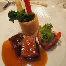 黒毛和牛ロース肉のグリエです。