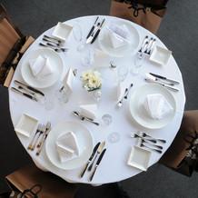 テーブルは円卓と長卓