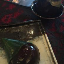 デザートのコーヒー味まんじゅう