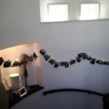 螺旋階段の壁面など至る所に好きな装飾が