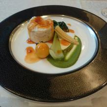 白身魚とホタテをペースト状に蒸したもの
