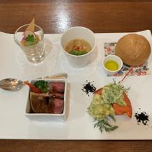 オマール海老の天ぷらも最高。