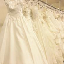 ドレスの種類はとても豊富でした。