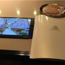 iPadで館内の様子も見れました。