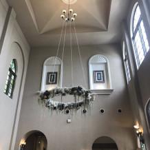 受付の天井