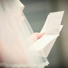 手紙は涙で見えませんでした。