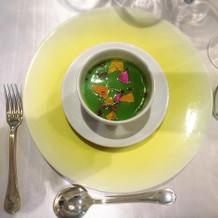 ブロッコリーの冷製スープ。