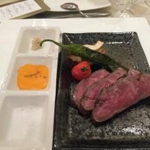 北海道黒毛和牛サーロインと旬菜のグリエ